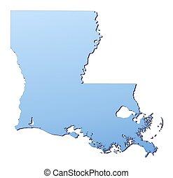 El mapa de Luisiana