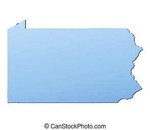 El mapa de Pennsylvania