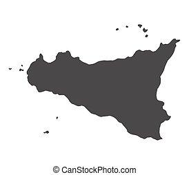 El mapa de Sicilia