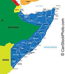 El mapa de Somalia