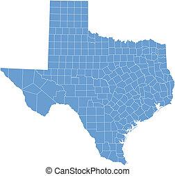 El mapa de Texas