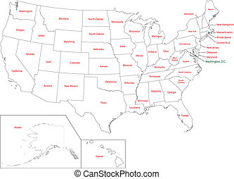 El mapa de USA