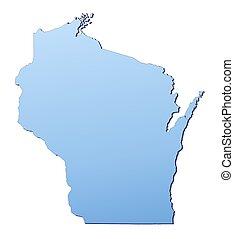 El mapa de Wisconsin