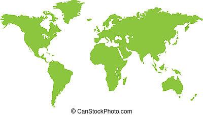 El mapa del continente verde