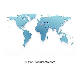 El mapa del mundo de los negocios azules
