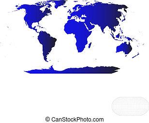 El mapa del mundo del vector