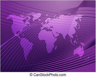 El mapa del mundo ilustra