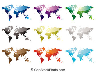 El mapa del mundo nueve