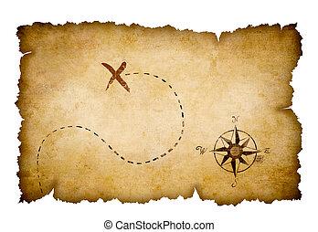 El mapa del tesoro de los piratas