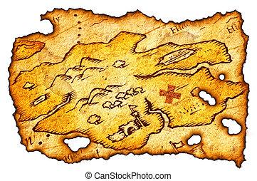 El mapa del tesoro quemado