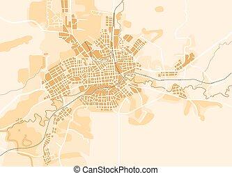 El mapa del vector de la ciudad
