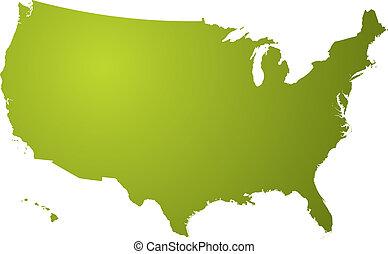 El mapa es verde