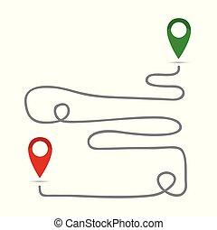 El mapa indica la dirección de ubicación del icono