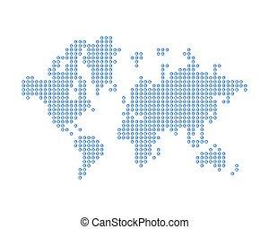 El mapa mundial consiste en notificación de icono nuevo mensaje. Un concepto de redes sociales. Ilustración de vectores planos EPS 10