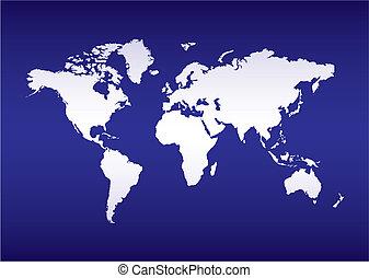 El mapa mundial del océano azul