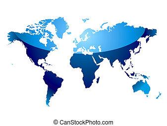 El mapa mundial refleja el azul