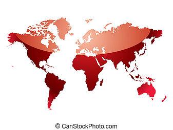El mapa mundial refleja el rojo