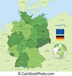 El mapa vector de Alemania