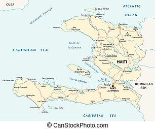 El mapa vectorial de la República de Haití