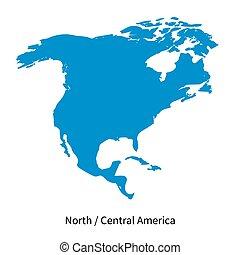 El mapa vectorial detallado de la región norte y central de América