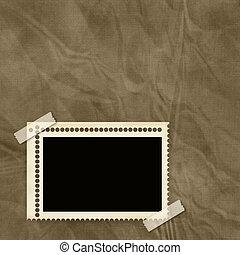 El marco de estampado sobre el pasado texturizado