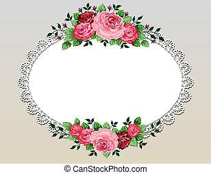 El marco de flores de vitage