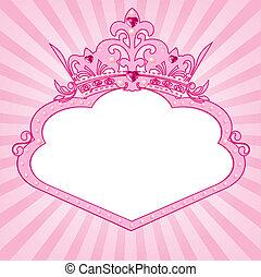 El marco de la corona princesa