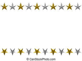 El marco de la Estrella de Navidad está aislado en el fondo blanco.