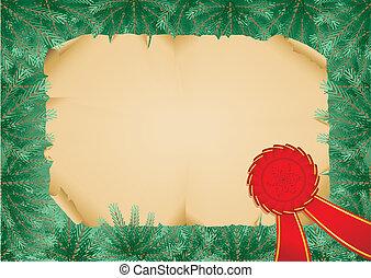 El marco de Navidad