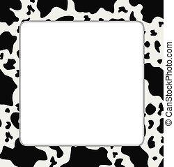 El marco del vector con textura abstracta de piel de vaca