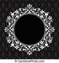 El marco floral redondo del vector