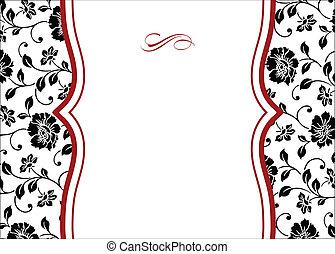 El marco floral rojo floral del vector