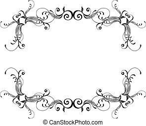 El marco ornamental del vector