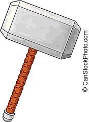 El martillo de la ilustración vectorial