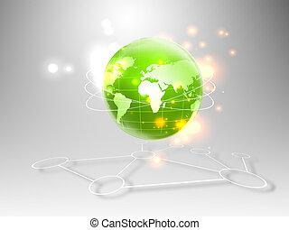 El mejor Concepto de Internet de los negocios globales de la serie de conceptos