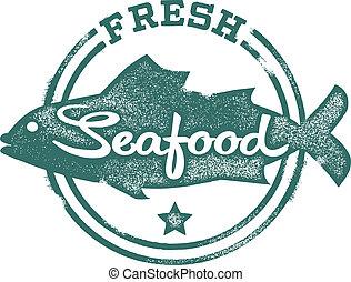 El menú de mariscos frescos