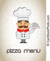 El menú de pizza