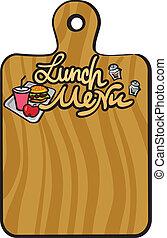 El menú del almuerzo