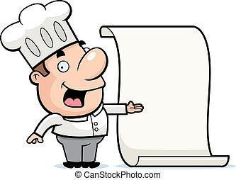 El menú del chef