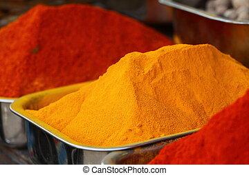 El mercado de las especias tradicionales en la India