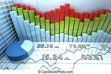 El mercado de valores es pintoresco