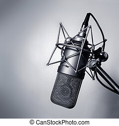 El micrófono del estudio