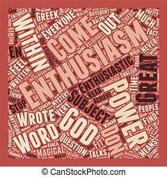 El misterio detrás del texto de entusiasmo el concepto de palabra de fondo
