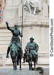 El monumento de Cervantes