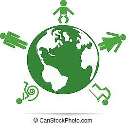 El mundo de la gente. Ilustración vectorial