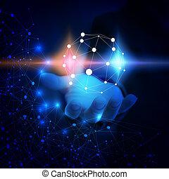 El mundo está conectado. Red de tecnología abstracta.