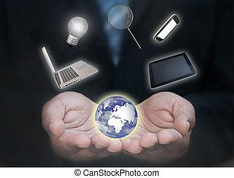 El mundo tecnológico de los hombres de negocios