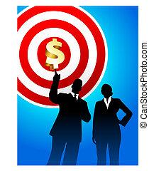 El objetivo se beneficia con los ejecutivos de negocios