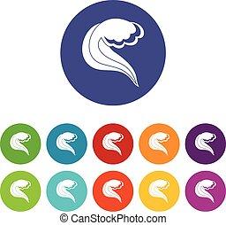 El océano o la ola marina ponen iconos