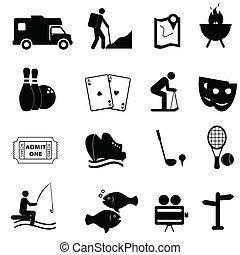 El ocio y los iconos divertidos